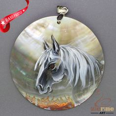 FASHION NECKLACE HAND PAINTED HORSE SHELL PENDANT ZL3005196 #ZL #Pendant