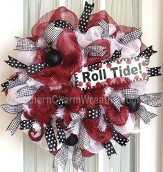Welcome Baby Mesh Deco Wreaths | Made Custom Deco Mesh & Silk Flower Wreath by Southern Charm Wreaths ...