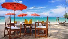 Andara Resort and Villas: Relax at the resort's private beach club on Kamala Beach.