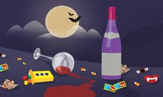 The most important things in a Halloween Survival Kit for adults are wine, candy, and more wine.