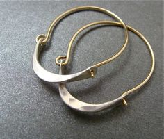 minimalist ... 14k gold filled hoops by sirenjewels on Etsy, $36.00