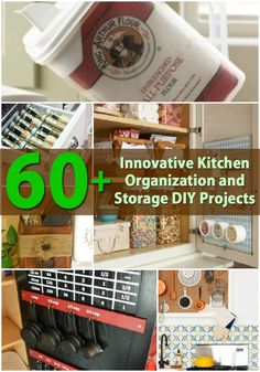 Getting organized is important and organization never stops, especially if the place is your KITCHEN and here're the 60+ Innovative Kitchen Organization and Storage DIY Projects to look at.