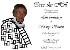 Cool Over The Hill Birthday Invitations  Download this invitation for FREE at http://www.bagvania.com/over-the-hill-birthday-invitations.html