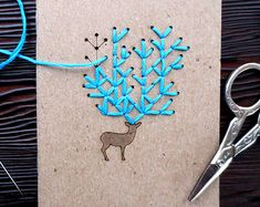 DIY Geometric Pocket Notebook Embroidery Kit Set by CuriousDoodles