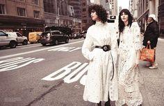 Glen Luchford captures Julia Nobis, Mica Arganaraz & Niki Trefilova for Vogue Paris March 2015. Styled by Suzanne Koller. Make-up by Megumi Yamamoto. Hair by Shay Ashual.