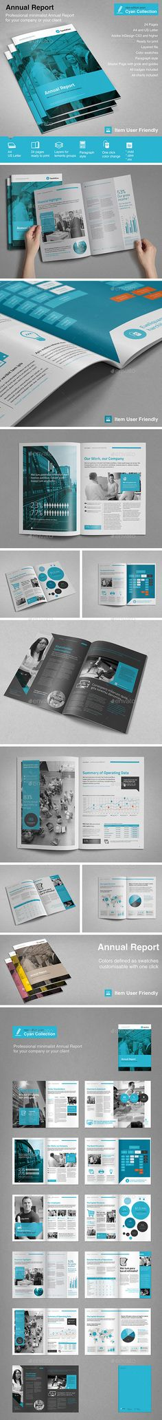 Annual Report Brochure Indesign Template 3 Indesign Templates