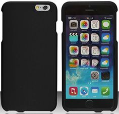 """myLife Luxurious Flat Black {Secure Modern Every Day} 2 Piece Snap-On Rubberized Protective Faceplate Case for the NEW iPhone 6 (6G) 6th Generation Phone by Apple, 4.7"""" Screen Version """"All Ports Accessible"""" myLife Brand Products http://www.amazon.com/dp/B00U0EXR88/ref=cm_sw_r_pi_dp_TZgfvb1SWV2AA"""
