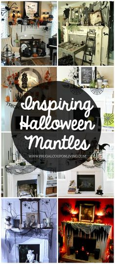 31 Inspiring Halloween Mantles and Tablescapes. Ideas to dress up your home this October Season on Frugal Coupon Living.