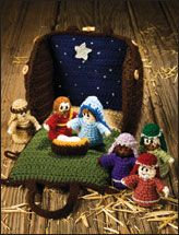 "crocheted creche idea from ""e-patterns""  http://www.e-patternscentral.com/detail.html?prod_id=8136"