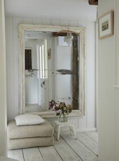 .white frame / mirror
