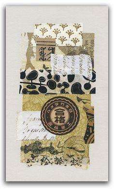 Two Hand Design 52 Weeks of Collage Part 2 Week 3 Asian Mixed Media Art, Mixed Media Collage, Mixed Media Canvas, Asian Art, Mix Media, Art Journal Pages, Art Journaling, Junk Journal, Paper Art