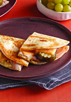 Cuban Turkey Quesadilla – Crunchy pickle chips and melted cheese give this Cuban Turkey Quesadilla its unique flavor and texture. Not to mention, this quick dish is ready in just 10 minutes!