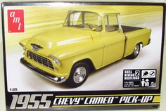 1955 Chevy Cameo Pickup Truck AMT #633 1/25 Scale New Model Kit