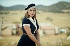 Kate Winslet in The Dressmaker (costume design by Margot Wilson) Sarah Snook, Liam Hemsworth, Kate Winslet, The Dressmaker Movie, Sailor Fashion, Movie Costumes, Film Serie, Historical Costume, 1950s Fashion