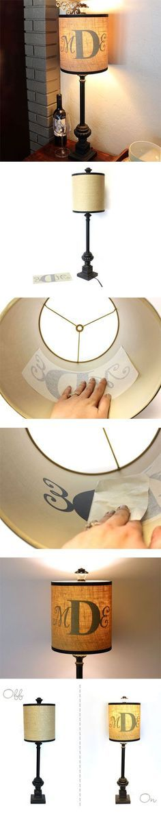 How to Create a Monogram Lamp | CraftCuts.com. doesn't have to be a monogram. Could be any word you would like to display.