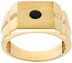 Mens-10k-Yellow-Gold-Black-Diamond-Dice-Ring