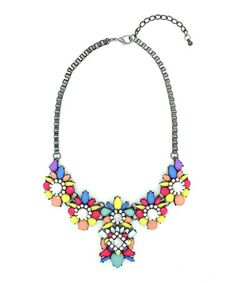I want it! Loving this Silver & Blue Charity Bib Necklace on #zulily! #zulilyfinds
