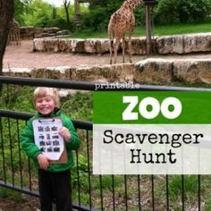 Here is a way to keep kids engaged at the zoo! This printable #zoo scavenger hunt is perfect for kids of all ages, and all you have to do is print! A way to #learn, observe and play a game all at the same time! #MindfulLiving OurMLN.com