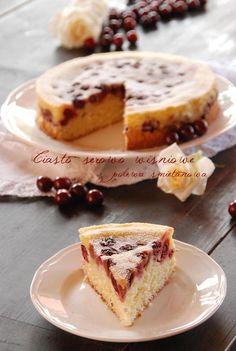 Ciasto serowo wisniowe z polewa smietanowa