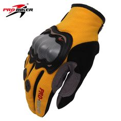 PRO-BIKER Breathable Motorcycle Full Finger Protective Gear Racing Gloves Knight Riding Gloves with Handmade Logo M-XL