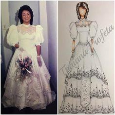Reprodução vestido princesa anos 80