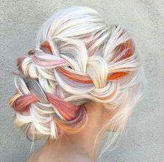 Love purple and orange on white blonde