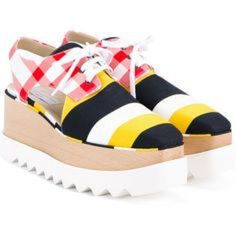9586176086c Stella Mccartney Elyse Cut Out Oxford Wedges White Wedge Shoes
