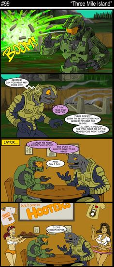 Another Halo Comic Strip Video Games Funny, Funny Games, Master Chief And Cortana, Halo Funny, John 117, Halo Series, Halo Game, Red Vs Blue, Funny Pictures
