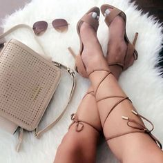 Aldo Sandal Heels with laces