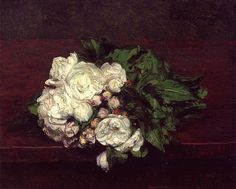 Paintings of Spring: Henri Fantin-Latour (14 ianuarie 1836 – 25 august 1904), pictor si litograf francez(I)Flowers