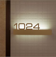 apartment entry door signage sizes - Google Search