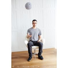 """""""Andrew Yes"""" Portrait with Pillow Sphere by Winnie Wow www.andrewyes.com #AndrewYes #Pillowsphere #NewYork #WinnieWow"""