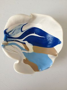 Beach inspired handpainted polymer clay decorative by sweetstellas, $30.00