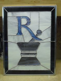 Pharmacy Rx Stained Glass