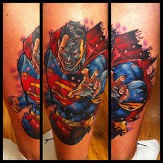 Superman tattoo by Andy Walker at Creative Vandals