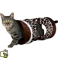 Tunnel CRUNCH tissu velours pour chat