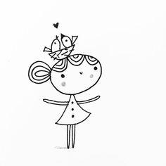 Pencil Art Drawings, Doodle Drawings, Cartoon Drawings, Easy Drawings, Doodle Art, Diy Painting, Painting & Drawing, Cute Doodles, Art Challenge