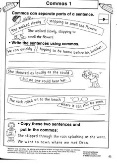 ELA COMMAS Dates, Cities, Items in a Series Worksheet #1 | Worksheets