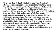 life of historic King Arthur http://www.maryessberger.org/kingarthur/faq.htm
