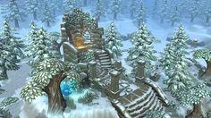 Lowpoly Forest Ruins Winter by Jen1506.deviantart.com on @DeviantArt