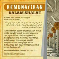 Munafik dalam shalat Islamic Quotes, Islamic Prayer, Islamic Teachings, Islamic Messages, Muslim Quotes, Religious Quotes, Doa Islam, Allah Islam, Islam Muslim
