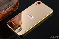 For HTC Desire 820 816 626 826 HTC One M8 M9 M10 Case Gold Color Matel Frame Mirror Back Cover Luxury Phone Bag For HTC 820