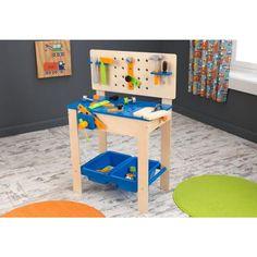 Voor de coole klussers: een eigen stoere werkbank van KidKraft. 63329 Kidkraft luxe werkbank met gereedschap - Bandolino.nl