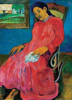 Paul Gauguin, 1891, Faaturuma (détail), oil on canvas, Nelson-Atkins Museum of Art.