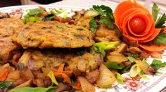 Portobello mushrooms/onions/carrots pancakes! Yum! Eliminate the carrots and use brown rice flour. Add zucchini or yellow squash Instead of carrots