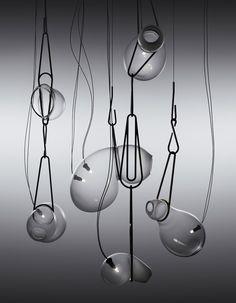 Lindsey Adelman's Catch lighting installation