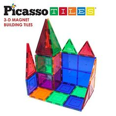 Picassotiles 100-Piece Set Magnet Building Tiles, 2015 Amazon Top Rated Magnets & Magnetic Toys #Toy