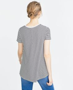 STRIPED A-LINE T-SHIRT-T-shirts-Collection-TRF-SALE | ZARA United States