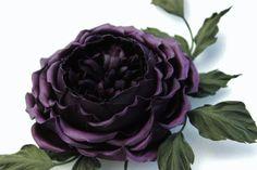 #leatherflowers #leathergift #leather #jewellery #flowers #handmade Leather rose corsage, purple leather rose corsage, leather rose, leather rose brooch, leather flower, leather jewelry, leather gift for her