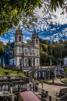 Bom Jesus do Monte by Alexandre Mestre on Braga, Portugal Braga Portugal, Spain And Portugal, Algarve, Places Around The World, Around The Worlds, Holy Art, Portugal Travel, Kirchen, Amazing Destinations